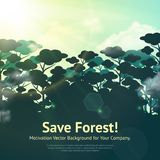 Save Forest Illustration Royalty Free Stock Photos