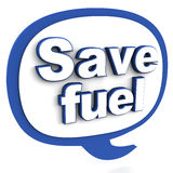 Save fuel Royalty Free Stock Image