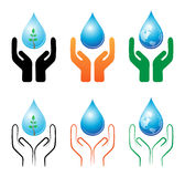 Save raindrop Royalty Free Stock Images