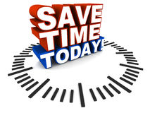 Save time today Royalty Free Stock Photo