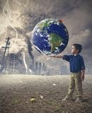 Save the world concept Stock Photography