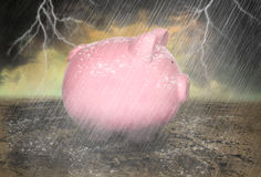 Saving, Save Money Rainy Day Royalty Free Stock Photo