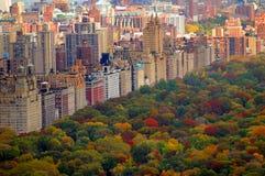 Scena di autunno del Central Park Fotografie Stock Libere da Diritti