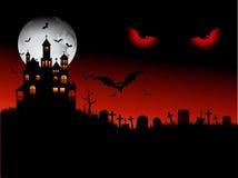 Scena spettrale di Halloween Immagine Stock