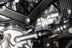 Schließen Sie herauf Maschinen-Motorradsport (großes Fahrrad) Stockbilder