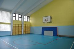 School gym indoor Royalty Free Stock Images