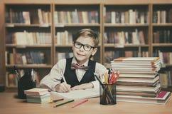School Kid Education, Student Child Write Book, Little Boy Royalty Free Stock Photos
