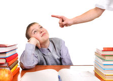 Schoolboy and Strict Parent Stock Photos