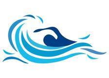 Schwimmenzeichen Stockfotos