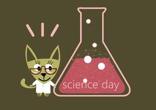 Science Day, day chemist Royalty Free Stock Image