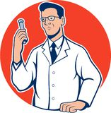 Scientist Lab Researcher Chemist Cartoon Royalty Free Stock Images