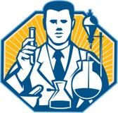 Scientist Lab Researcher Chemist Retro Royalty Free Stock Photo