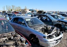 Scrapped vehicles Royalty Free Stock Photography