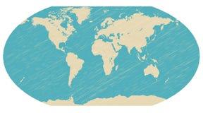 World globe map vector Stock Image