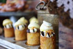 Scrumptious cakes and pastries Stock Image