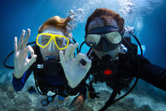 Scuba diving Royalty Free Stock Photography