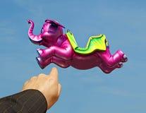 se! flyga den rosa elefanten Royaltyfri Bild
