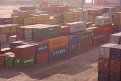 Sea Containers in Aquaba Stock Photography