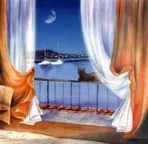 Sea night Royalty Free Stock Image
