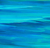 Sea smooth surface, painting by oil on canvas Royalty Free Stock Image