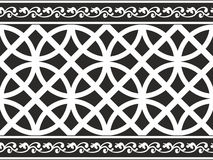 Seamless black-and-white gothic floral border Royalty Free Stock Photo