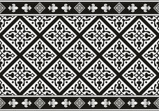 Seamless black-and-white gothic floral texture Royalty Free Stock Image