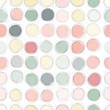 Seamless circles pattern Stock Images