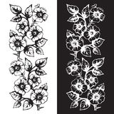 Seamless floral ornamental element for creating borders, frames Royalty Free Stock Image