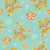 Seamless paper decor with butterflies Royalty Free Stock Photo
