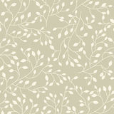 Seamless floral vector pattern Stock Photography