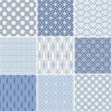 Seamless geometric patterns set Royalty Free Stock Photo