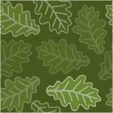Seamless oak leaves pattern Royalty Free Stock Image