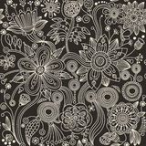 Seamless pattern - abstract flowers Stock Photo