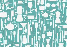 Seamless pattern with cooking icons background Stock Image