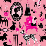 Seamless pattern with glamour accessories Stock Photos