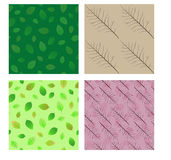 Seamless patterns. Set. Stock Photos
