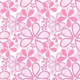 Seamless pink flowers Royalty Free Stock Photo