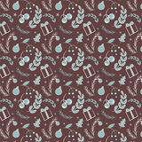 Seamless simple vector graphics pattern. Tile Christmas background Royalty Free Stock Images