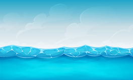 Seamless Summer Ocean Background For Ui Game Stock Photo