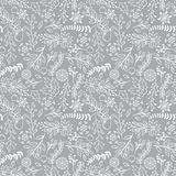 Seamless Tileable Christmas Holiday Floral Background Pattern Stock Photo
