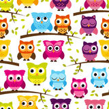Seamless and Tileable Vector Owl Background Pattern Stock Photos
