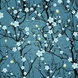 Seamless tree pattern. Japanese cherry blossom Royalty Free Stock Photo