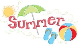 Seasonal Summer Graphic Royalty Free Stock Photos