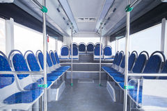 Seats of bus as public transportation Royalty Free Stock Photos
