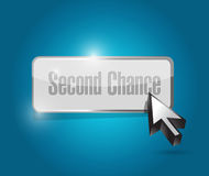 Second chance button illustration design Stock Photo