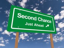Second chance just ahead sign Stock Image