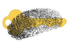 Secure access with fingerprint Royalty Free Stock Photo
