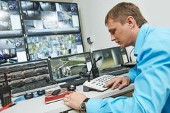 Security video surveillance Stock Images