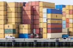Seecontainerbahnhof Stockfoto