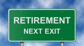 Segnale stradale di pensione Fotografia Stock Libera da Diritti